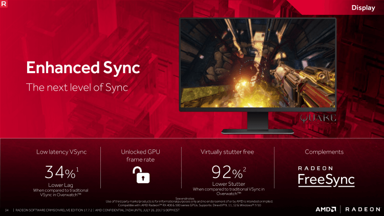 AMD Radeon Enhanced Sync что это